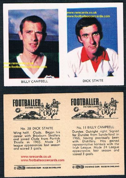 1966 A&BC Scottish pair Partick Clyde 38 Dick Staite 11 Campbell Dundee